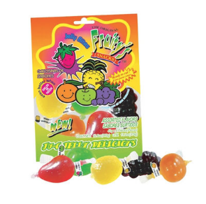 DINDON FRUITY SNACKS ( jelly fruit splash)  30 x 9 stuks