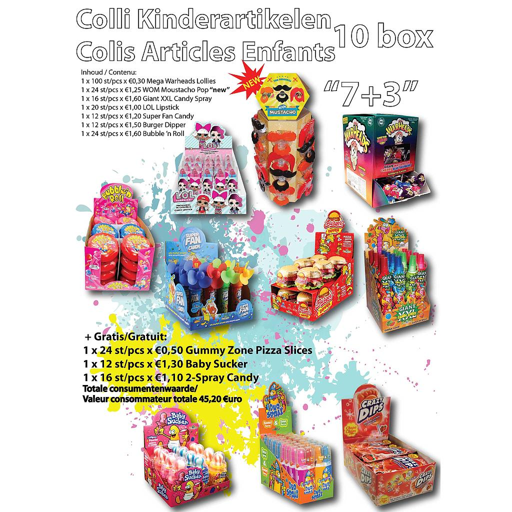 COLLI KINDERARTIKELEN 10 BOX 7 + 3 GRATIS